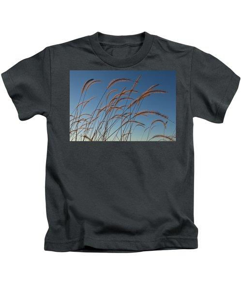 Prairie Grass Landscape Kids T-Shirt