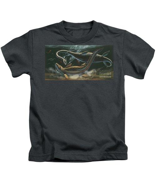 Prehistoric Marine Animals, Underwater View Kids T-Shirt