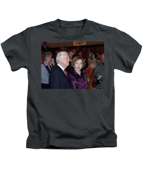 President And Mrs. Jimmy Carter Nobel Celebration Kids T-Shirt