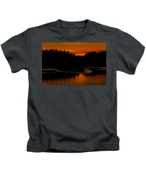 Presumpscot Sunset No.101 Kids T-Shirt
