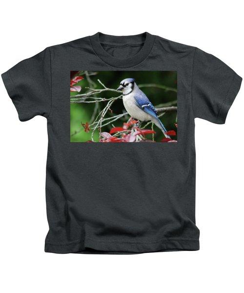Pretty Blue Jay Kids T-Shirt