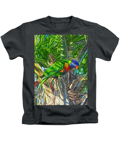 Pretty Lorikeet. Kids T-Shirt