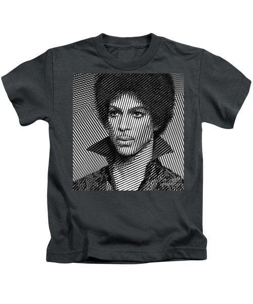 Prince - Tribute In Black And White Sketch Kids T-Shirt