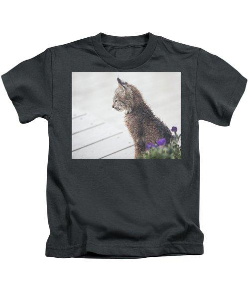 Profile In Kitten Kids T-Shirt