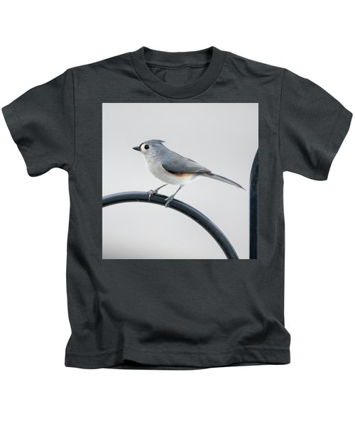 Profile Of A Tufted Titmouse Kids T-Shirt