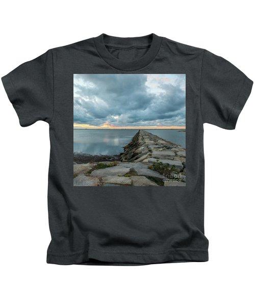Provincetown Breakwater #3 Kids T-Shirt