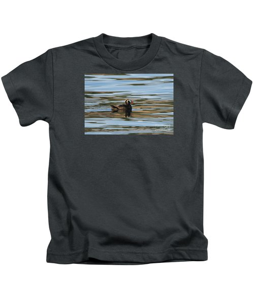 Puffin Reflected Kids T-Shirt by Mike Dawson