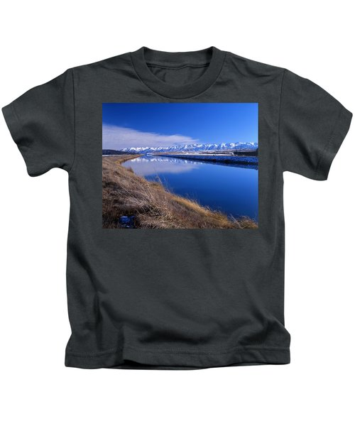 Pukaki Canal  Kids T-Shirt