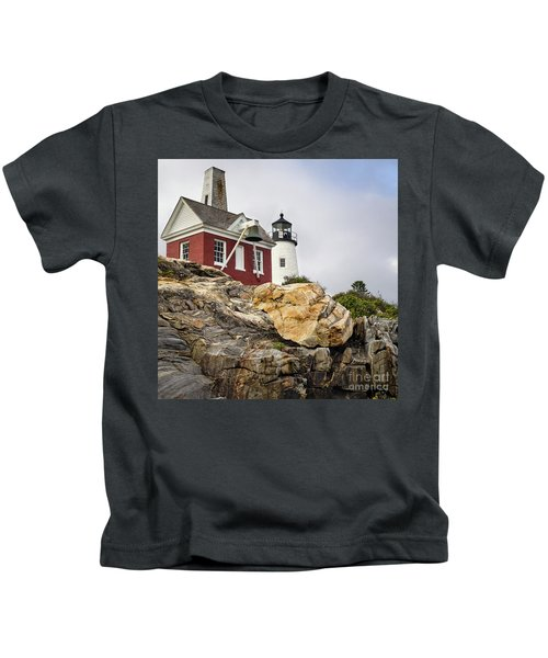 Pumphouse And Tower, Pemaquid Light, Bristol, Maine  -18958 Kids T-Shirt