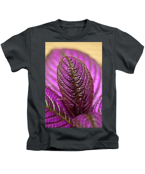 Purple Coleus Kids T-Shirt