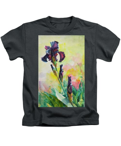 Purple Iris Kids T-Shirt
