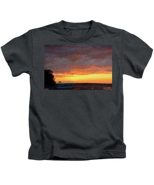 Purple Martin Sunset On Lake Murray Sc Kids T-Shirt