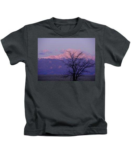 Purple Mountain Majesty Kids T-Shirt