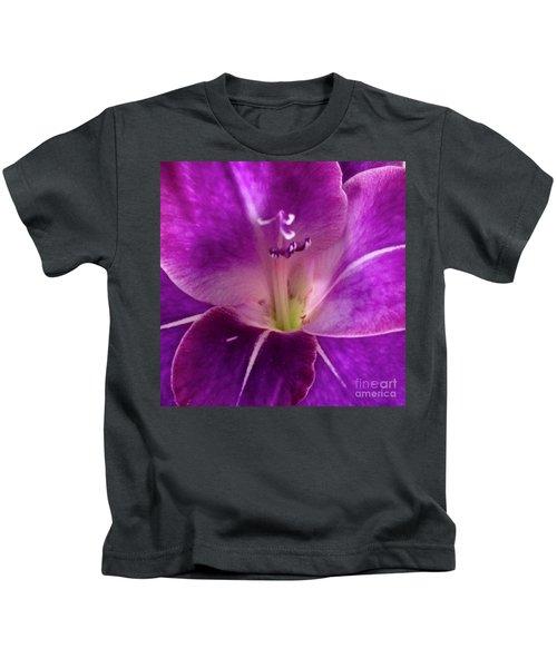 Purple Orchid Close Up Kids T-Shirt