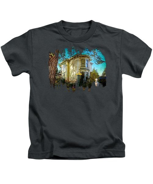 House With The Purple Swing Kids T-Shirt