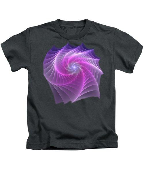 Purple Web Kids T-Shirt
