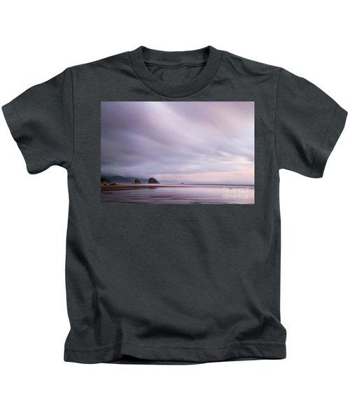 Purple Wisp In The Morning Kids T-Shirt
