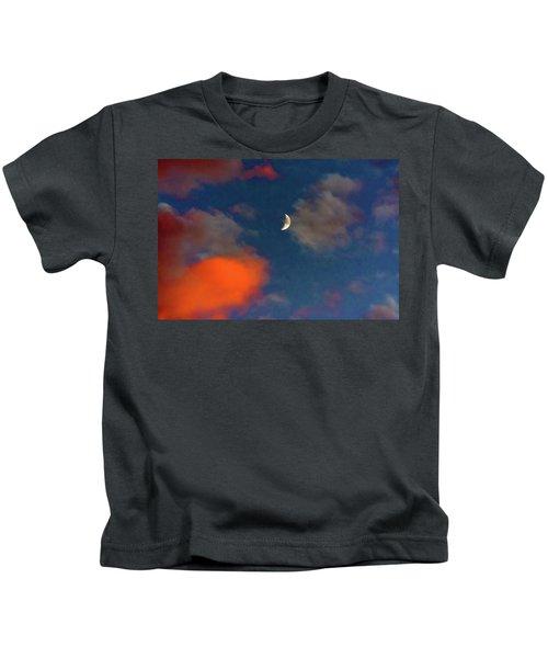 Quarter Moon Sunset 2 Kids T-Shirt