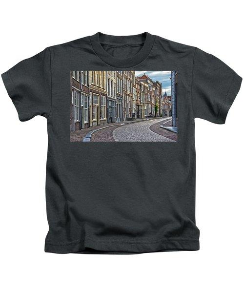 Quiet Street In Dordrecht Kids T-Shirt