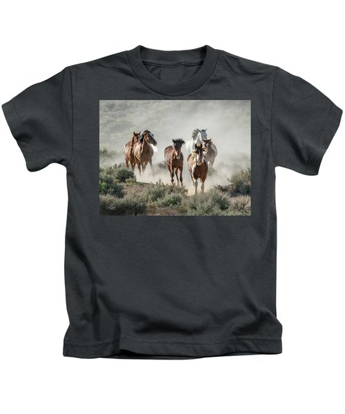 Racing To The Water Hole Kids T-Shirt