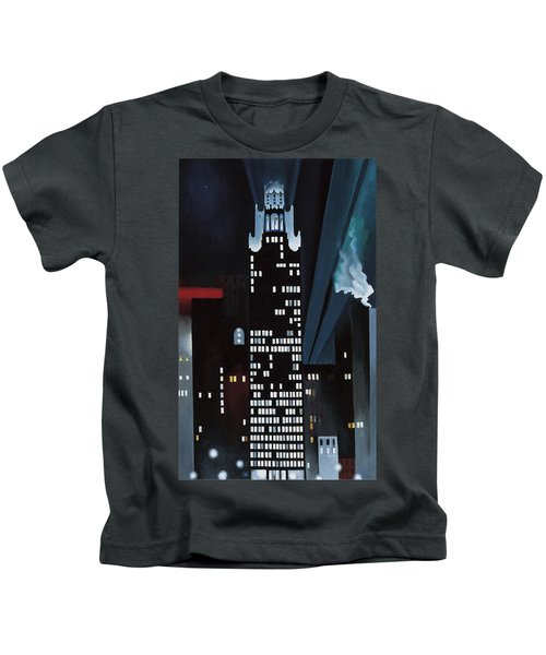 Radiator Building Night  New York Kids T-Shirt