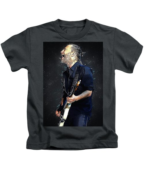 Radiohead - Thom Yorke Kids T-Shirt by Semih Yurdabak
