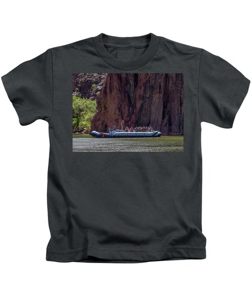 Rafters On The Colorado River, Grand Canyon Kids T-Shirt