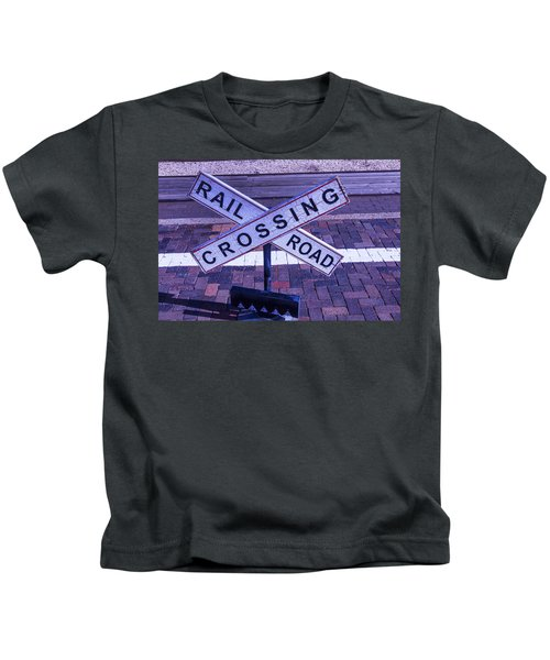 Railroad Crossing Sign  Kids T-Shirt