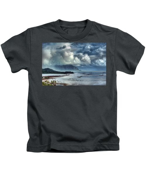 Rain Clearing Kaneohe Bay Kids T-Shirt