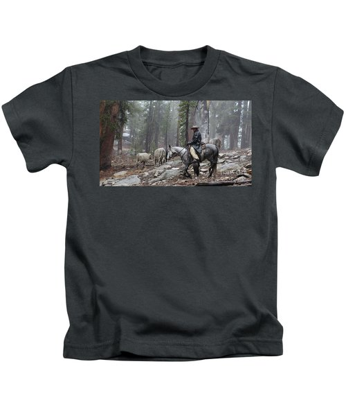 Rain Riding Kids T-Shirt