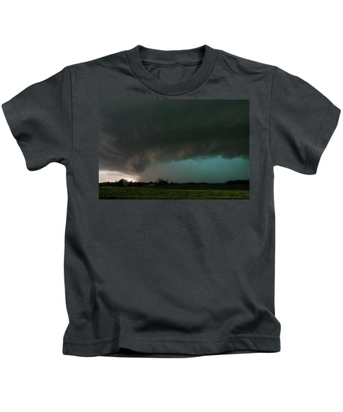 Rain-wrapped Tornado Kids T-Shirt