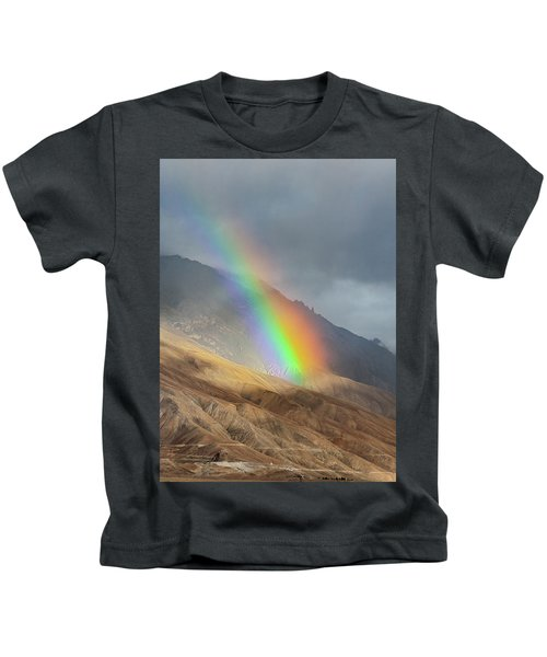 Rainbow, Kaza, 2008 Kids T-Shirt