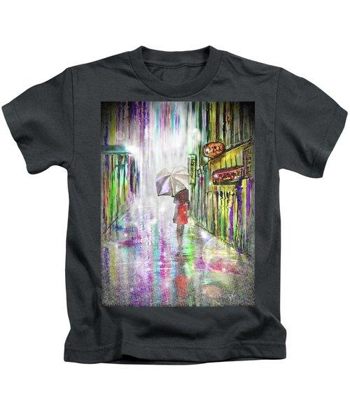 Rainy Paris Day Kids T-Shirt