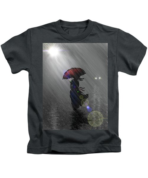 Rainy Walk Kids T-Shirt