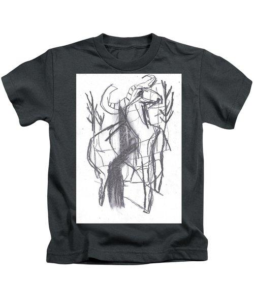 Ram In A Forest Kids T-Shirt