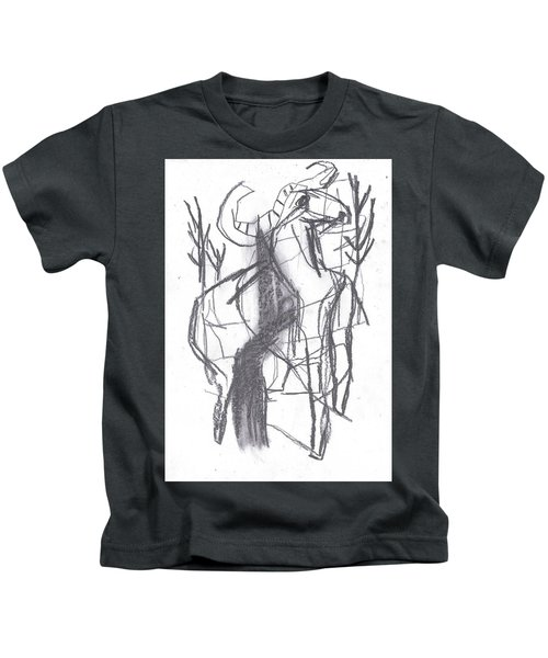 Ram In A Forest Kids T-Shirt