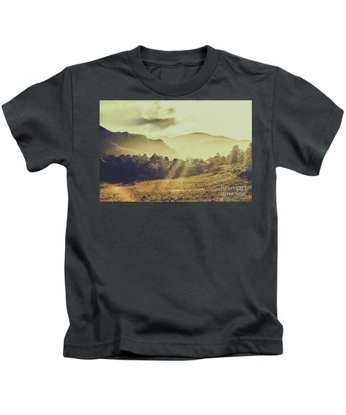 Rays Of Dusk Kids T-Shirt