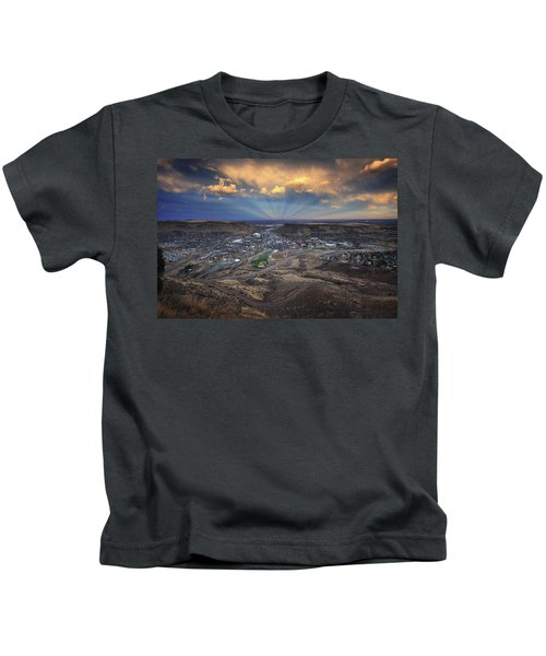 Rays Over Golden Kids T-Shirt