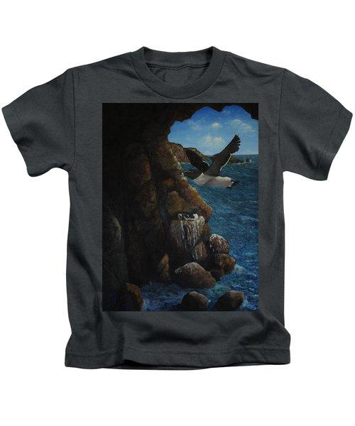 Razorbills Kids T-Shirt by Eric Petrie