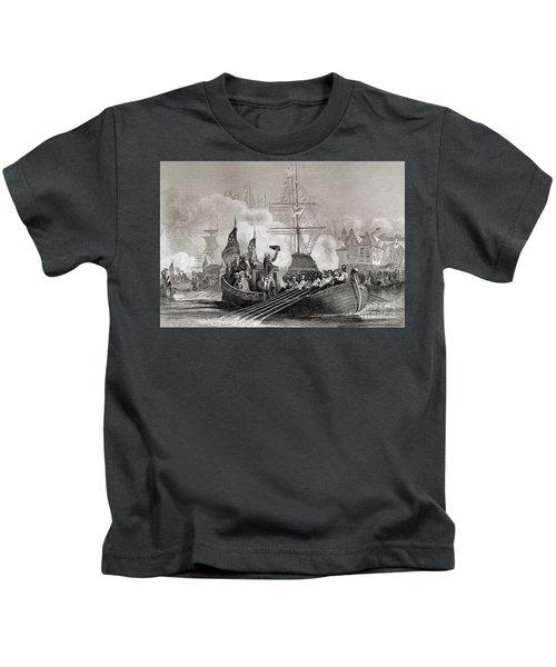Reception Of President Washington At New York Usa April 23rd, 1879 Kids T-Shirt