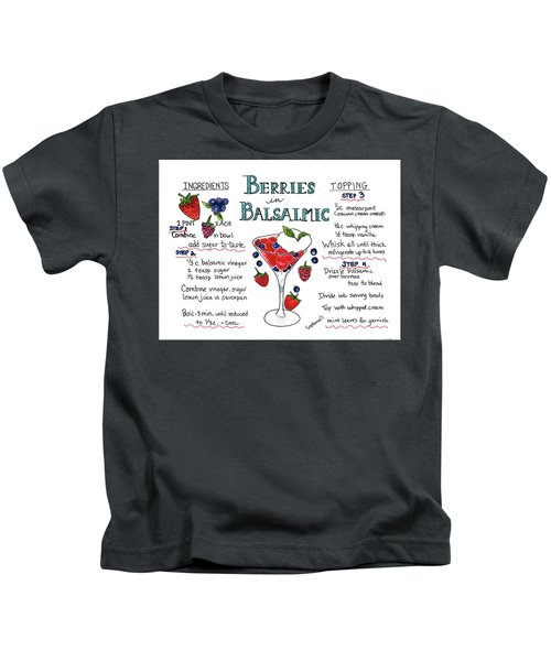 Recipe- Berries In Balsamic Kids T-Shirt