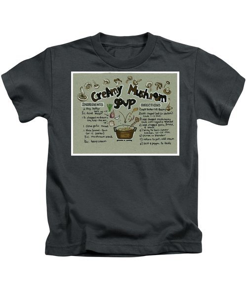 Recipe Mushroom Soup Kids T-Shirt