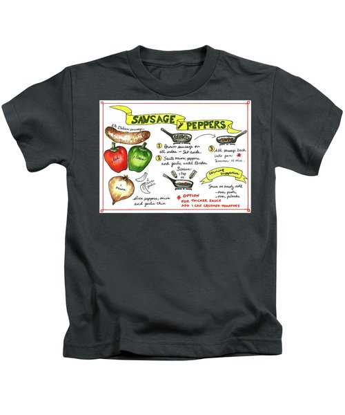 Recipe Sausage And Peppers Kids T-Shirt