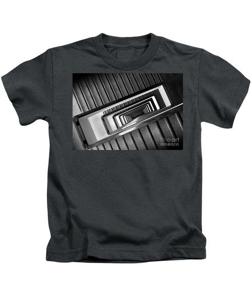 Rectangular Spiral Staircase Kids T-Shirt