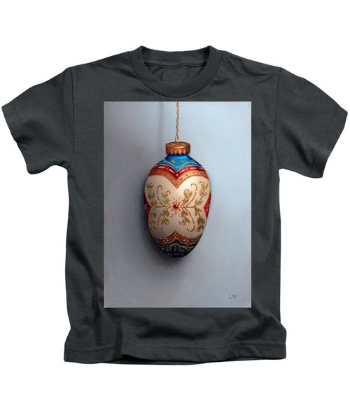 Red And Blue Filigree Egg Ornament Kids T-Shirt