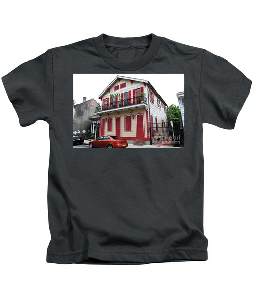 Red And Tan House Kids T-Shirt