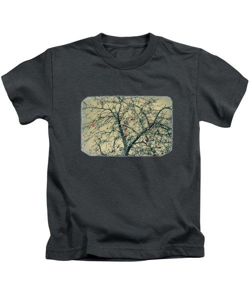 Red Apples In Empty Garden Kids T-Shirt by Konstantin Sevostyanov