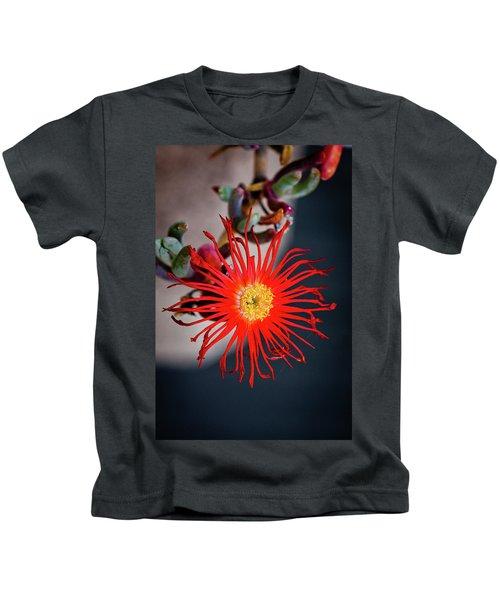 Red Crab Flower Kids T-Shirt