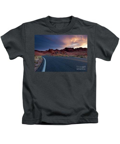 Red Desert Highway Kids T-Shirt