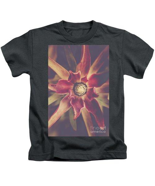 Red Devil Flower Kids T-Shirt